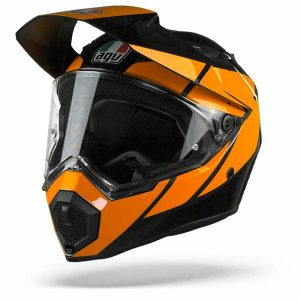 AGV AX9 Trail Casque IntŽgral Gunmetal Orange MS