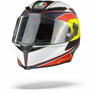 AGV Corsa R Supersport Casque IntŽgral Bleu Rouge Jaune S