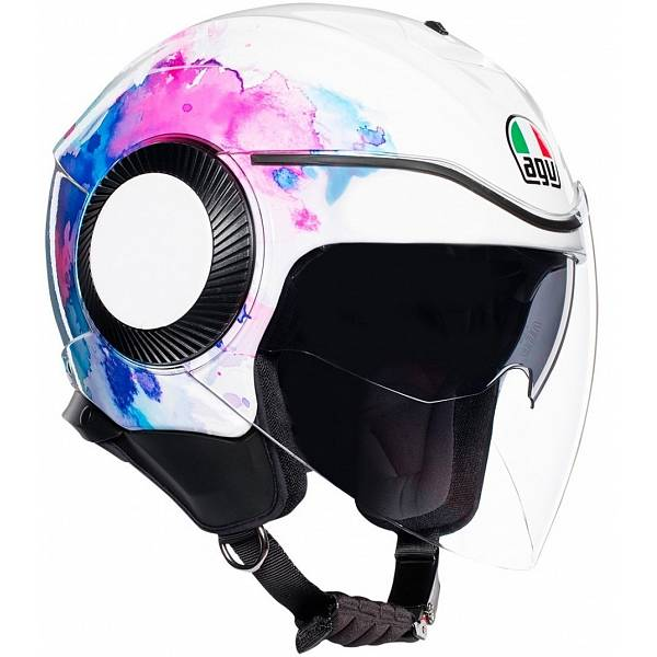 AGV Orbyt Mayfair White Purple Jet Helmet M