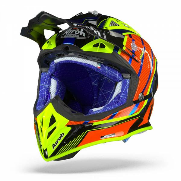 Airoh Aviator 2.3 Glow Casque Motocross Chrome Orange L