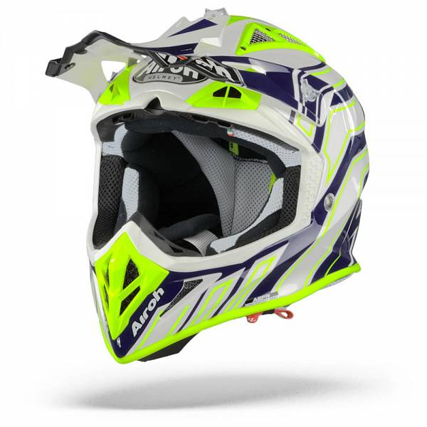 Airoh Aviator ACE Art Casque Motocross Bleu Brillant XL