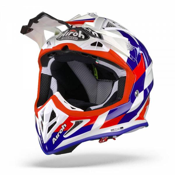 Airoh Aviator ACE Trick Casque Motocross Bleu Brillant M