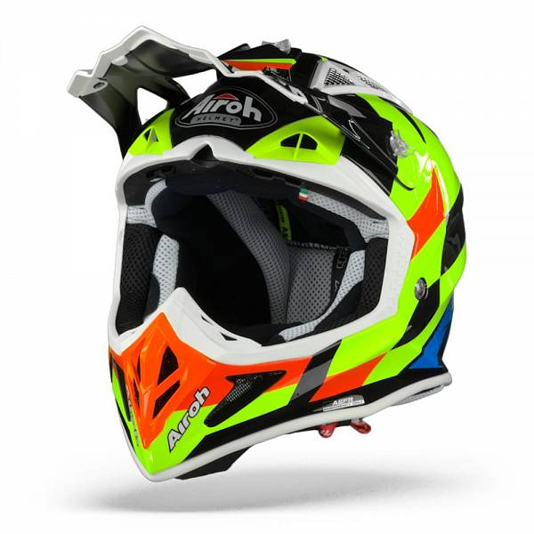 Airoh Aviator ACE Trick Casque Motocross Jaune Brillant L