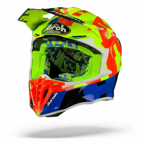 Airoh Twist 2.0 Frame Casque Motocross Jaune Orange Brillant M