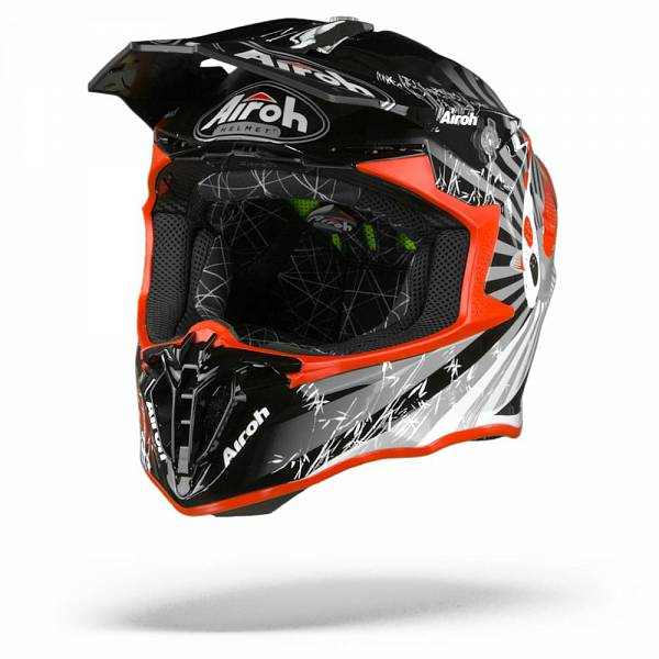 Airoh Twist 2.0 Katana Casque Motocross Rouge Brillant 2XL