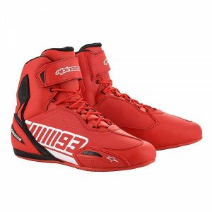 Alpinestars Austin Riding Chaussures De Moto Rouge Blanc 10.5