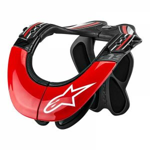 Alpinestars BNS Tech Protection Cervicale Anthracite Rouge Blanc XS-M