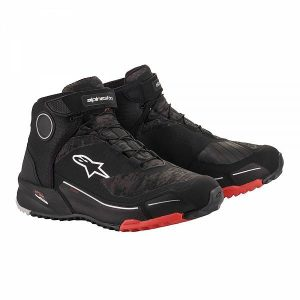 Alpinestars CR-X Drystar Riding Chaussures Moto Noir Camo Rouge 11.5