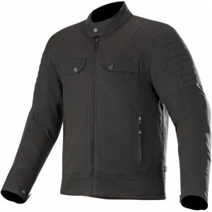 Alpinestars Ray Canvas V2 Black Textile Motorcycle Jacket S
