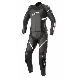 Alpinestars Stella Kira Black White 2PC Leather Suit 44