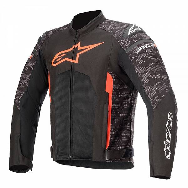 Alpinestars T-GP Plus R V3 Air Veste De Moto Noir Camo Rouge Fluo XL