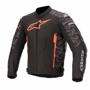 Alpinestars T-GP Plus R V3 Black Camo Red Fluo Textile Motorcycle Jacket M