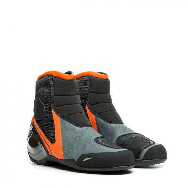 Dainese Dinamica Air Chaussures Moto Noir Orange Flame Anthracite 40