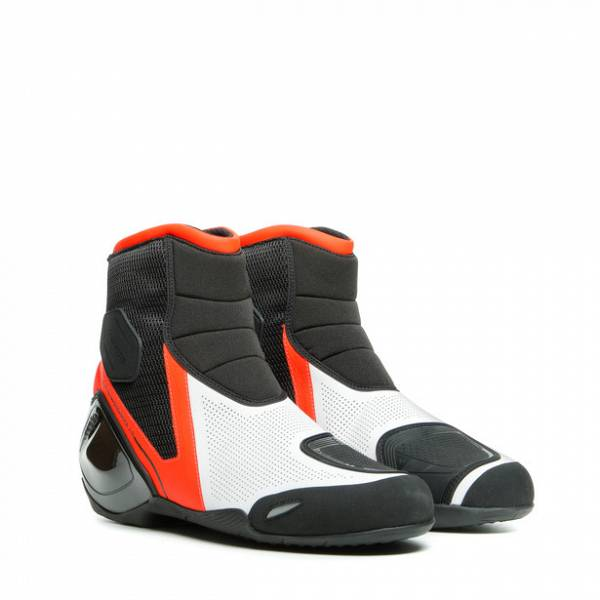 Dainese Dinamica Air Chaussures Moto Noir Rouge Fluo Blanc 43