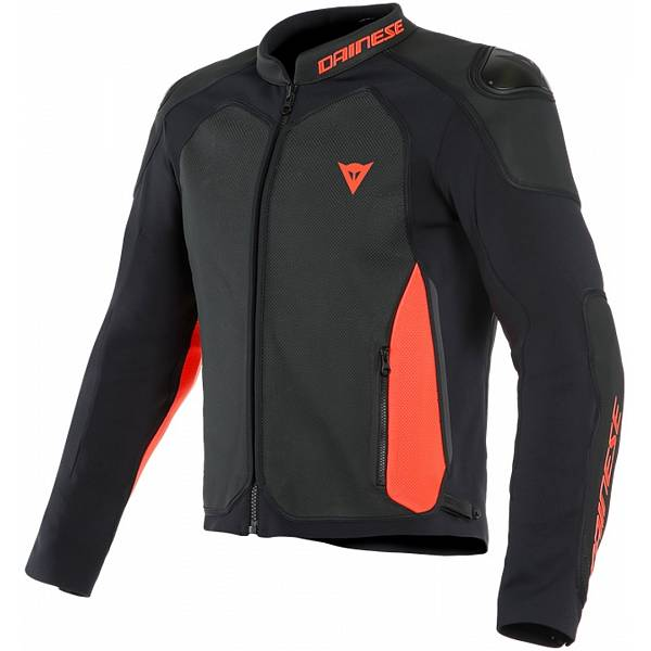 Dainese Intrepida Perforated Veste De Moto Noir Noir Mat Rouge Fluo 46