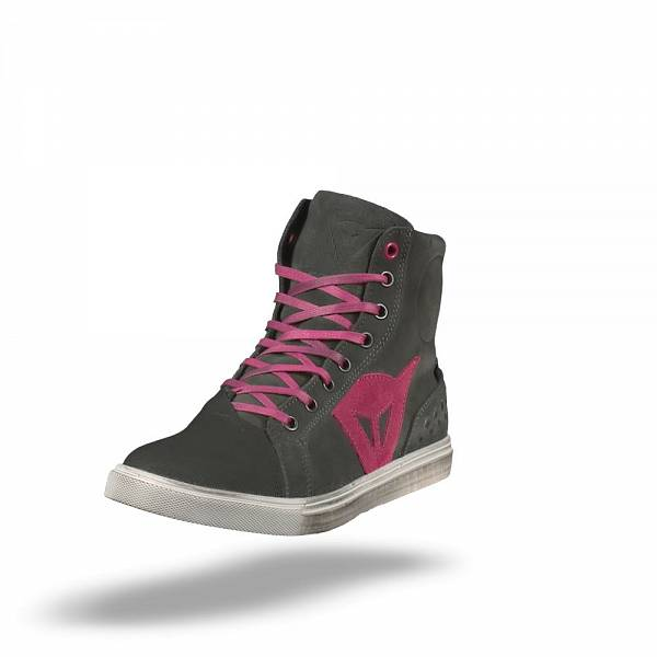 Dainese Street Biker D-WP Lady Chaussures De Moto Anthracite Fuxia 42