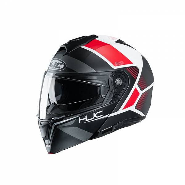 HJC I90 Hollen MC1SF Casque Modulable Noir Rouge S