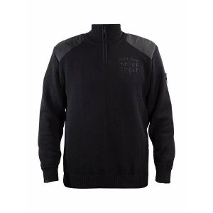John Doe Knit Sweat-Shirt ZippŽ Noir Petit Logo-JDP5002 2XL