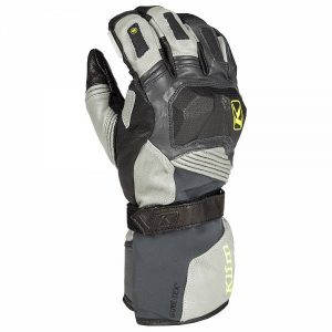 Klim Badlands Gore-Tex Gants De Moto Long Gris M
