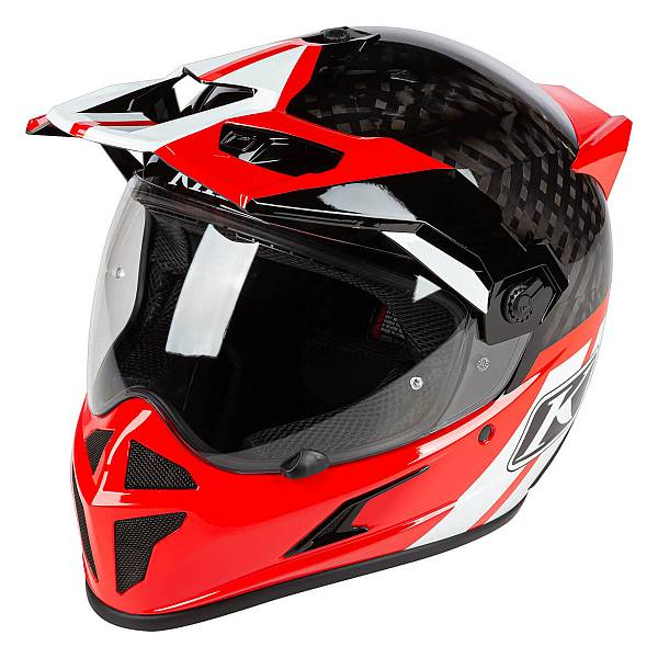 Klim Krios Twotrack Casque Adventure Rouge Rock 2XL
