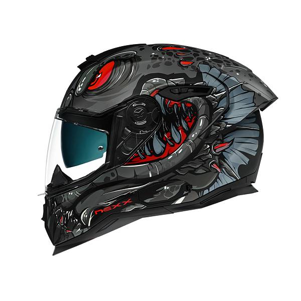 Nexx SX.100R Abisal Black Red Matt Full Face Helmet XL