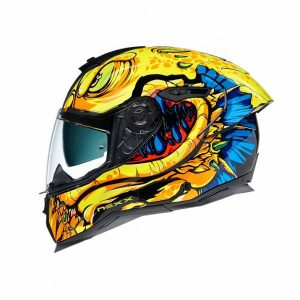 Nexx SX.100R Abisal Yellow Blue Full Face Helmet L