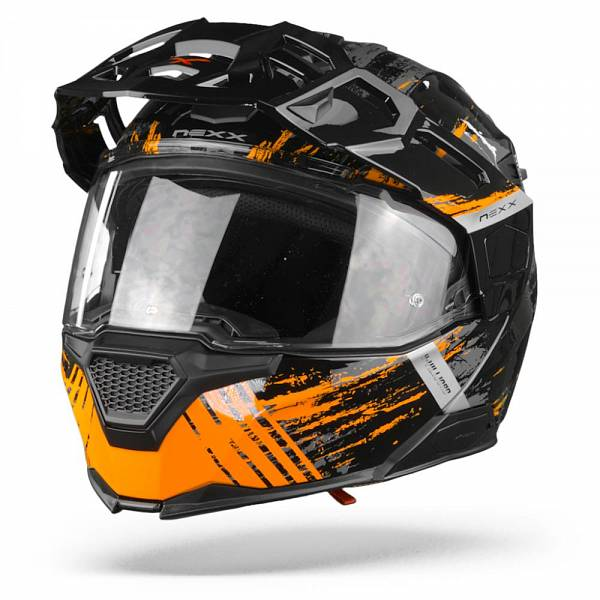 Nexx X.Vilijord Mudvalley Casque Modulable Noir Gris Orange XL