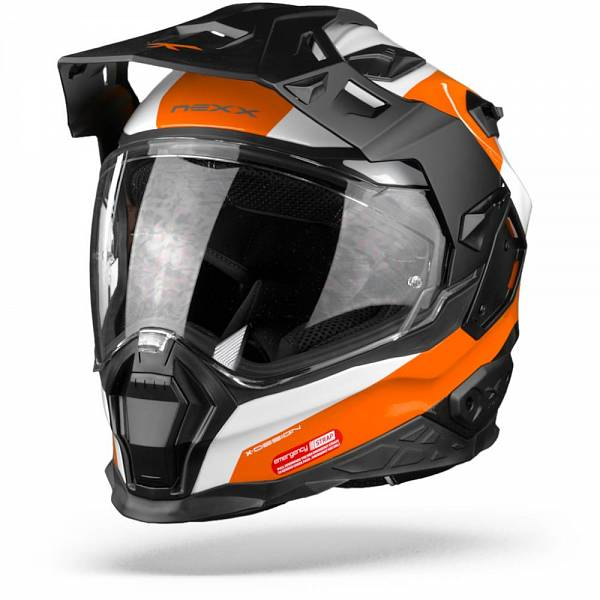 Nexx X.WED2 Duna Casque Aventure Blanc Orange L