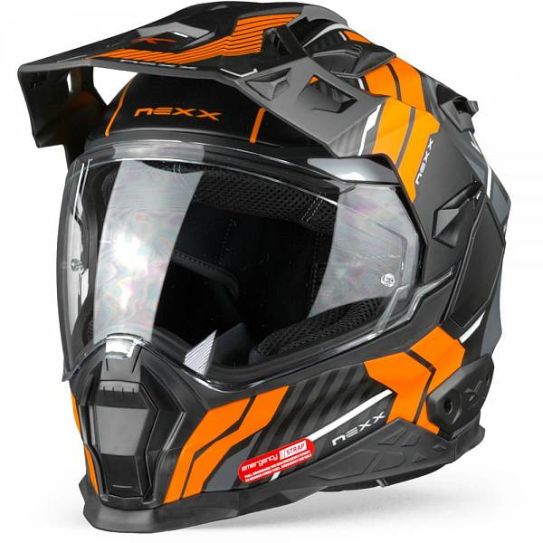 Nexx X.WED2 Wild Country Casque Aventure Noir Orange Mat XL