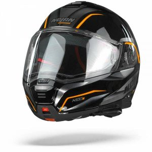 Nolan N100-5 Balteus 44 Casque Modulable Noir Orange Brillant XL