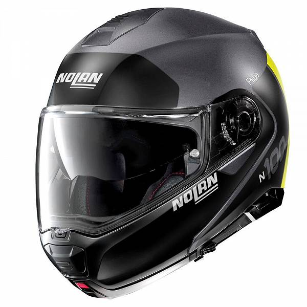 Nolan N100-5 Plus Distinctive 25 Casque Modulable Flat Lava Gris Jaune M