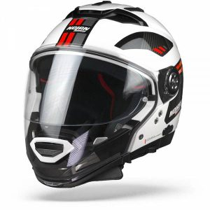 Nolan N70-2 GT Bellavista 28 Metal White Red Modular Helmet XL