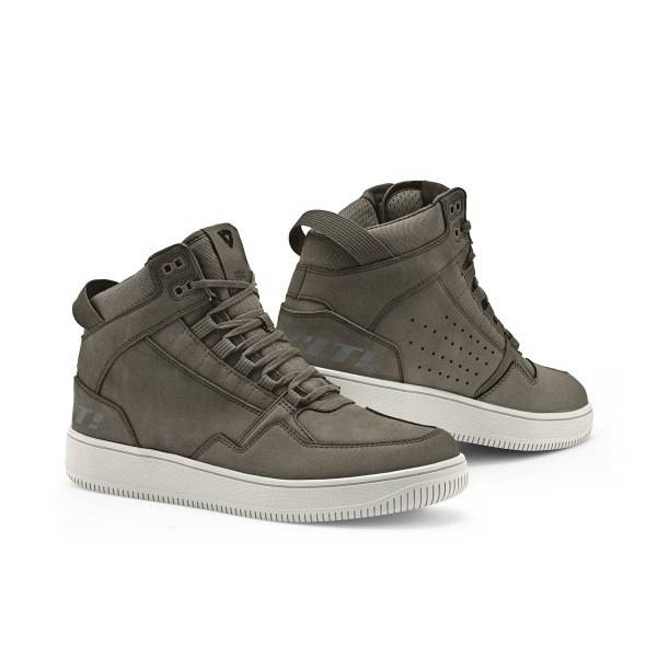 REV'IT! Jefferson Chaussures De Moto Vert Olive Blanc 41