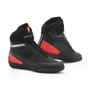 REV'IT! Mission Chaussures De Moto Noir Rouge NŽon 45