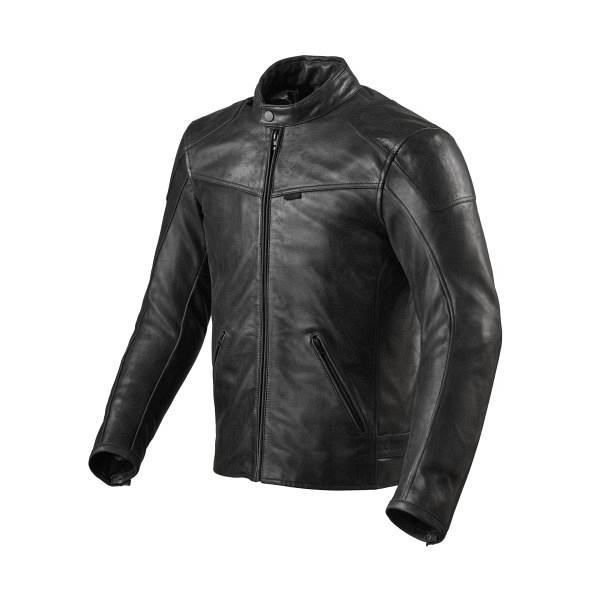 REV'IT! Sherwood Veste De Moto En Cuir Noir 48
