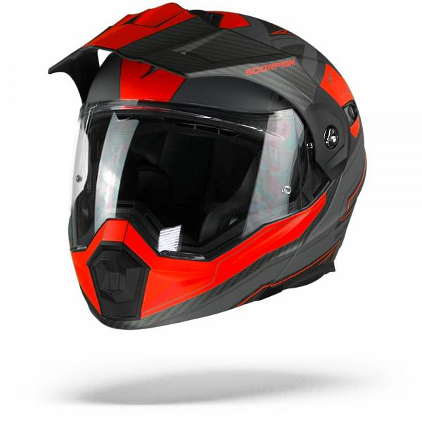 Scorpion ADX-1 Tucson Casque Aventure Ciment Gris Rouge Mat XL