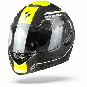 Scorpion EXO-1400 Air Carbon Beaux Casque IntŽgral Blanc Jaune Neon M