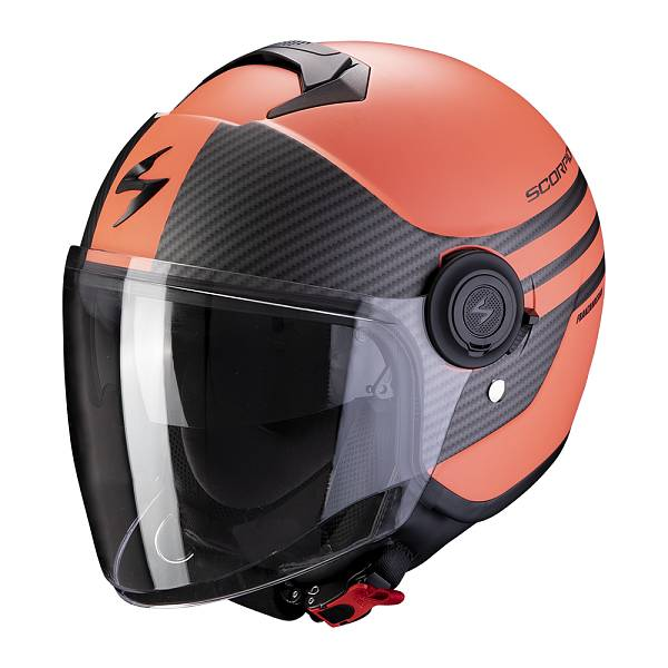 Scorpion Exo-City Moda Matt Coral Black Jet Helmet S