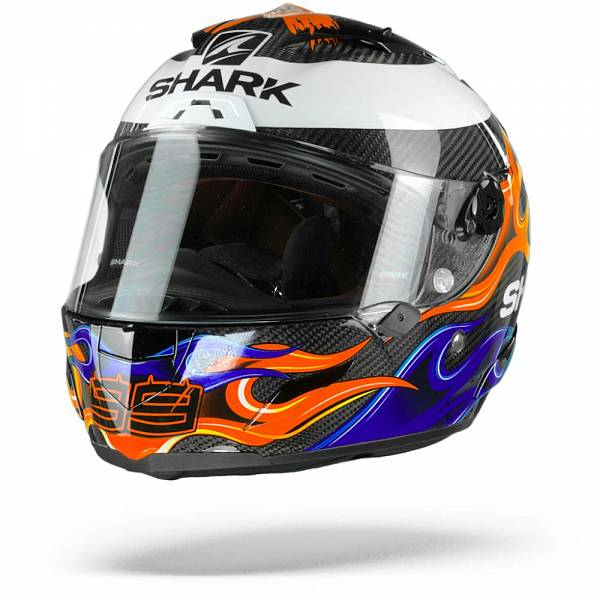 Shark Race-R Pro Carbon Lorenzo 2019 Casque IntŽgral Carbone Bleu Rouge XL