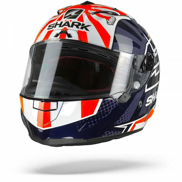 Shark Race-R Pro Zarco 2019 Casque IntŽgral Bleu Blanc Orange M