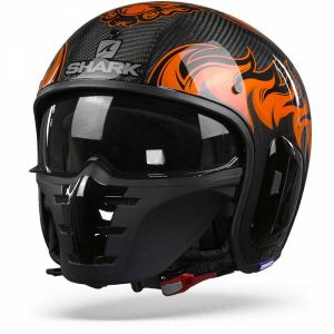 Shark S-Drak 2 Carbon Dagon Casque Jet Carbone Orange Orange L