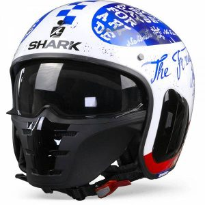 Shark S-Drak 2 Tripp In Casque Jet Blanc Bleu Rouge M