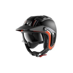 Shark X-Drak 2 Hister Casque Jet Noir Mat Anthracite Orange 2XL
