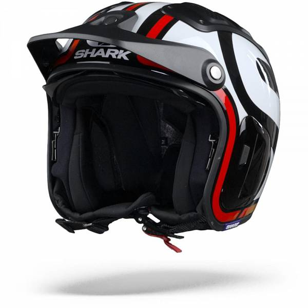 Shark X-Drak 2 Thrust-R Casque Jet Noir Blanc Rouge 2XL