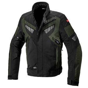 Spidi Freerider Dark Green Black Motorcycle Jacket L