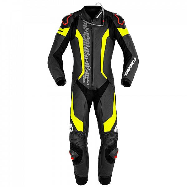 Spidi Laser Pro Perforated Black Fluo Yellow 1 Piece Racing Suit 50
