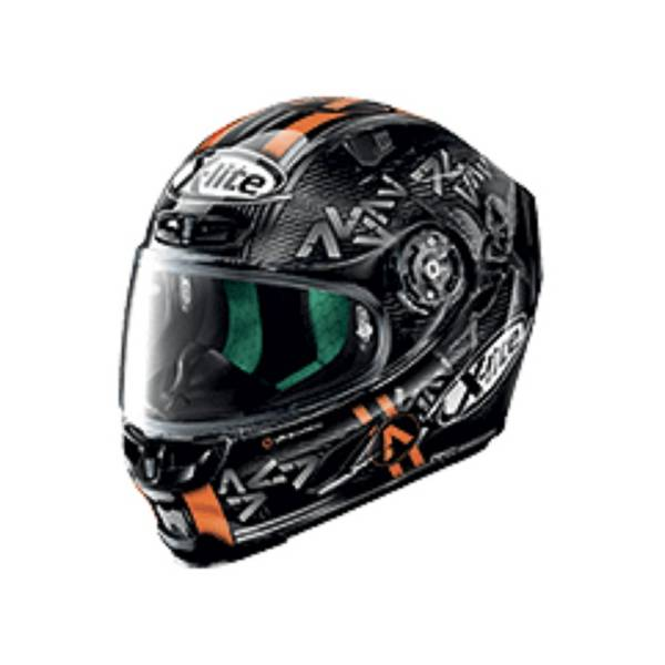 X-Lite X-803 Ultra Carbon 52 Canet Casque IntŽgral Carbone Noir Anthracite Orange M